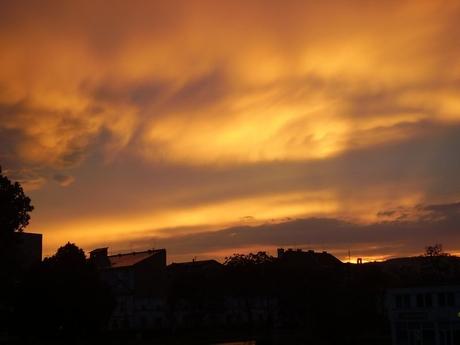 Západ slnka, Košice