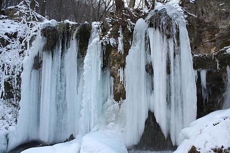 Zimné Hájske vodopády, Slovenský kras