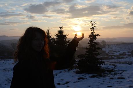 Rea, vychod slnka