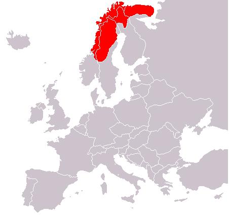 Laponsko, mapa