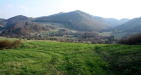 neďaleko obce Kľak