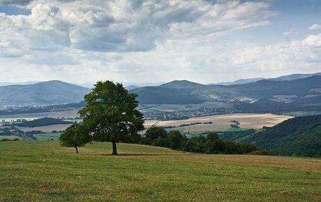 planina Horný vrch, krásny výhľad na Volovské vrchy