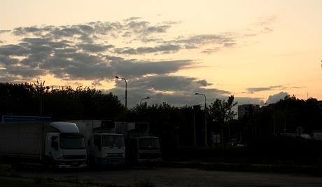 Už v Prešove nás chytil západ slnka, čo znamenalo, že do Blatnice prídeme naozaj doosť neskoro :)