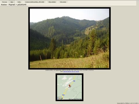 upravený DAlbum (použitie Google Maps Static API & Google Maps)