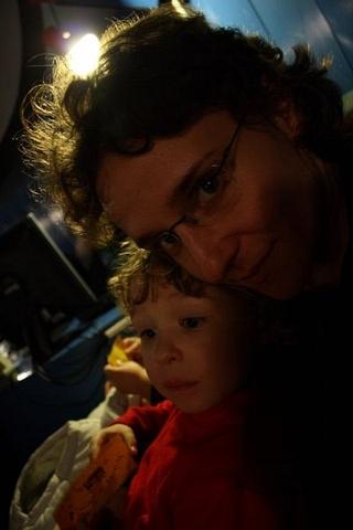 ... Abbi a Gabika v planetáriu ...