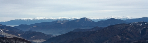 Výhľad na Tatry, z Veľkej Fatry