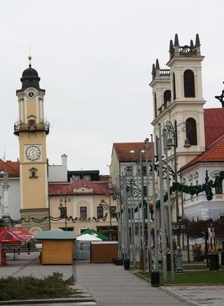 Šikmá veža, Námestie SNP, Banská Bystrica.