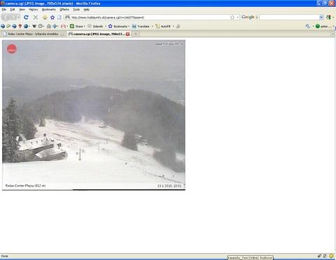 Plejsy, vraj 40cm snehu a veľmi dobré podmienky na lyžovanie.