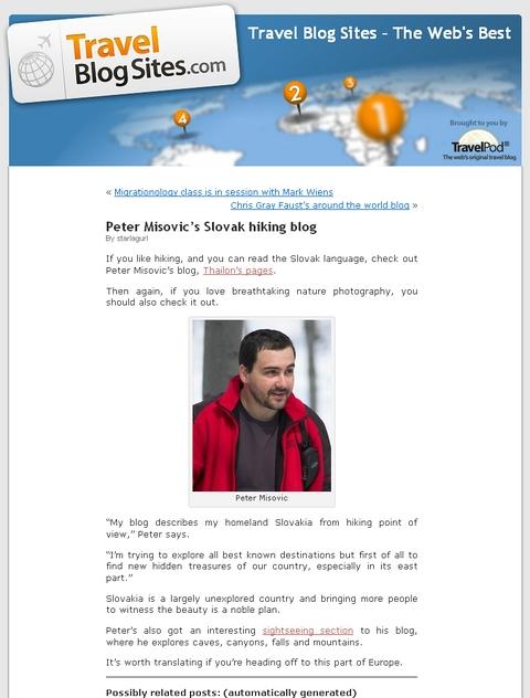 My hiking blog on Travel Blog Sites.