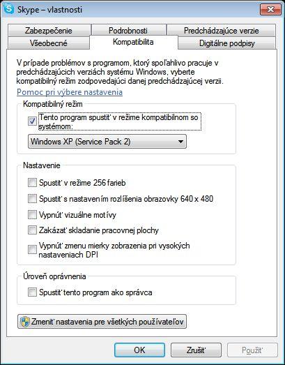 """Nastavenie minimalizovania programu Skype do oblasti nástrojovej lišty """"System tray""""."""