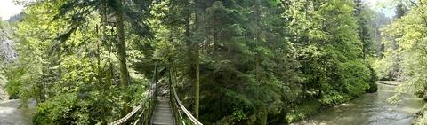 Lávka nad Zelenou dolinou (panoráma)
