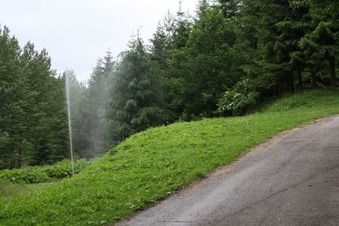 ... záver dňa, umelý gejzír v Rajeckej Lesnej ...