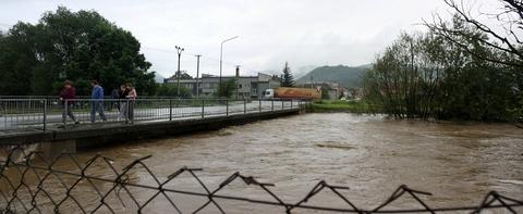 Plešivec, rieka Slaná (panoráma)