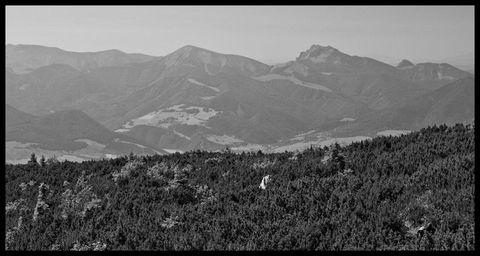 Rozsutec a Stoh (Malá Fatra) z Chočských vrchov