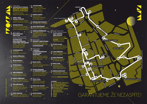 Mapa expozícii.