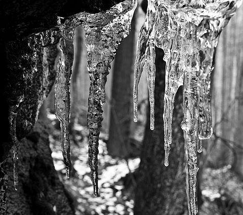 ... zvyšky ľadových útvarov ...