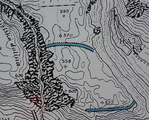 Zádielske hradisko, mapa