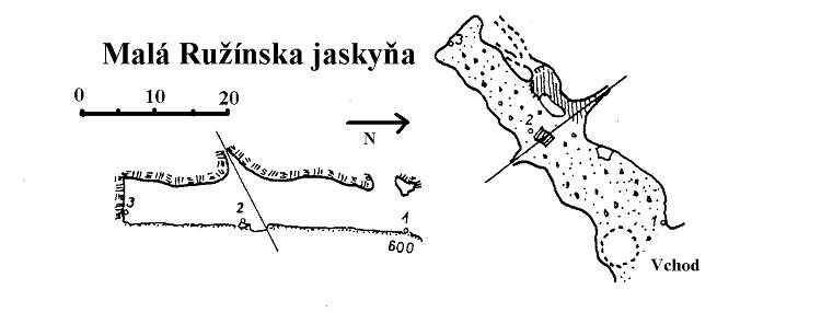 Antonova jaskyňa, mapa
