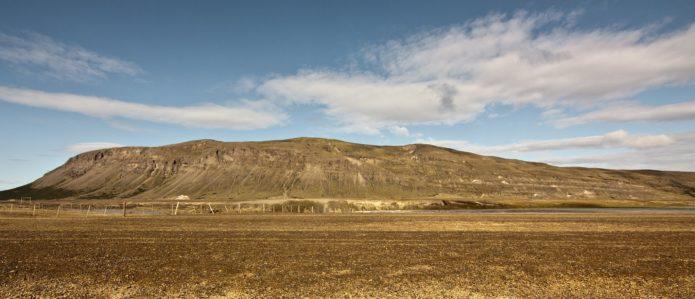 Búrfell (Þjórsárdal), 669-meter table volcano, Iceland